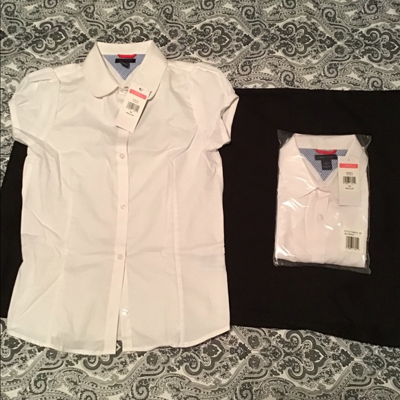 Tommy Hilfiger Other - Short sleeve school uniform shirt